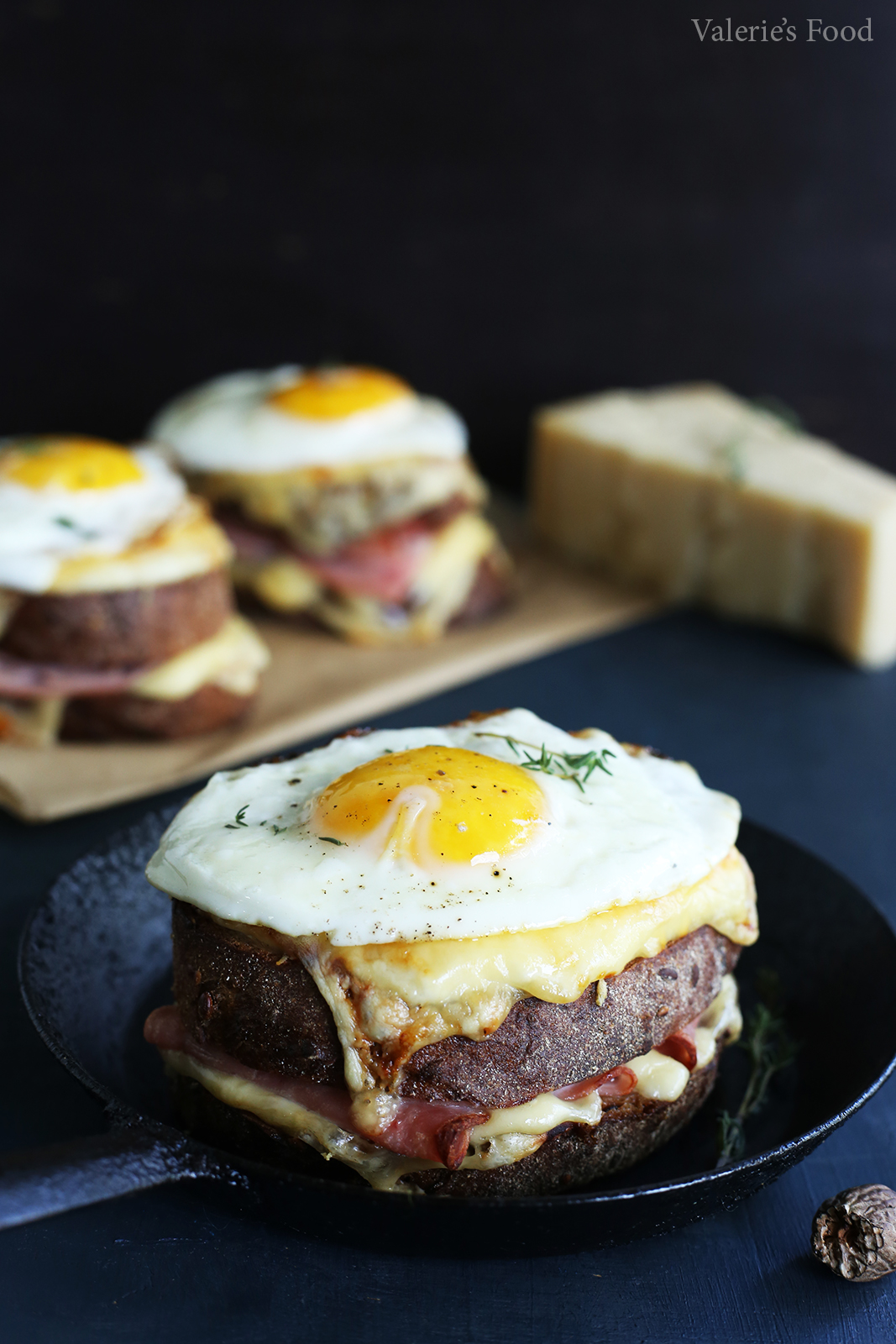 SANDWICH CROQUE MADAME I Rețetă + Video